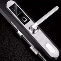 高盾E6800断桥铝窄边门指纹密码锁