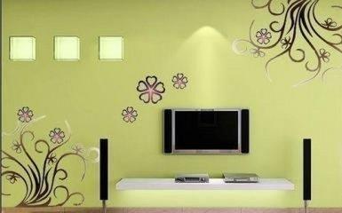 如何装出简洁大方的客厅电视墙  简单大方的电视墙图片