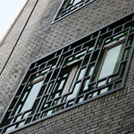 度假村装饰铝窗花 木纹铝窗花 各种颜色铝窗花定制