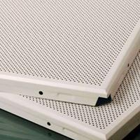金属穿孔吸音板 吊顶吸音材料 铝扣板