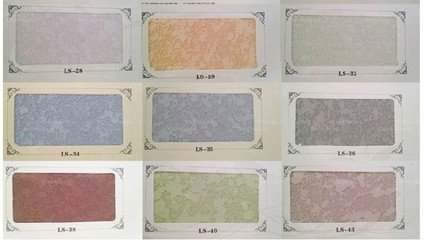 兰舍硅藻泥40色卡颜色  为硅藻泥家装增加色彩