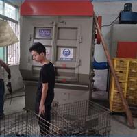 铝型材铝合金表面处理喷砂机3210履带式抛丸机不锈钢型材打沙设备