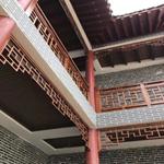 仿古代建筑装饰仿木纹铝窗花/仿古木色铝窗花/铝合金窗花厂家