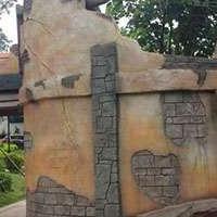 假山 仿木装饰客天下园区生态景观工程