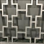 定制建筑工程使用仿古木色铝窗花_铝花格_厂家