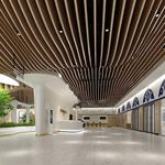 直销上海2.0厚白色氟碳造型方通-酒店宴会大厅不规则弧形铝方通