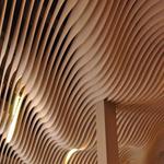 型材木纹铝方通厂家/可定做弧形铝方通/异形波浪形铝方通定制