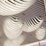 弧形铝方通直销厂家/造型长条形铝方通/型材木纹方通
