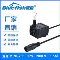 供应蓝鱼MINI-200迷你鱼缸桌面喷泉抽水泵