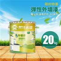 小本投资创业加盟 弹性外墙漆  水性漆 涂料梵竹水漆