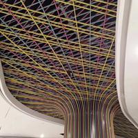 长治铝树弧形铝方通定制规格 仿木纹弧形铝格栅包边铝材加工厂