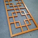 厂家定制新环保仿古铝合金花格窗-仿木纹铝制品格栅窗