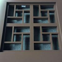 杭州港式铝窗花厂家,铝合金窗花定做,冰裂纹仿古铝窗花直销