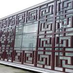 仿古铝合金花格装饰-外立面中式仿木格栅