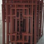 仿木铝艺方管焊接铝花格-仿古铝合金镂空花格窗厂家