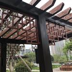 仿木纹铝合金焊接花窗-材料铝花窗定制厂家