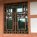 仿木纹铝合金窗棂格/木色铝窗花定制/复古中式铝窗花批发厂家