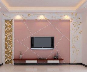 硅藻泥电视墙简单大方反倒更好看  硅藻泥电视墙现代简约图