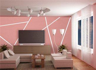 硅藻泥电视墙可以这么做  硅藻泥电视墙效果图片