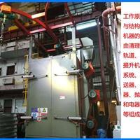 抛丸机铝型材货架油漆处理双吊钩式抛丸机佛山喷砂机打沙机生产商
