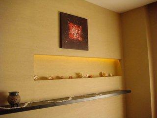 硅藻泥装修用哪个颜色呢  硅藻泥米黄客厅效果图
