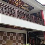 茶业商业街中式木纹铝窗花定做价格 各色木纹铝窗花定做价格