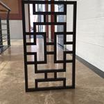 仿古专营店门头红松木铝花格焊接艺术的效果