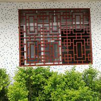 中式酒店铝窗花