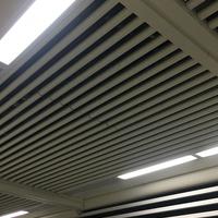 定制地铁站吊顶铝方通 白色O型铝圆管天花