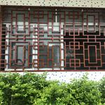 定做古典风格装饰复古铝合金花格网/仿古木纹铝花格窗直销厂家
