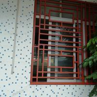 杭州茶庄木纹铝窗花 油漆铝窗花 仿古铝窗花