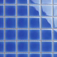 佛山厂家直销泳池砖蓝色陶瓷冰裂马赛克