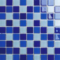 卡希曼专业提供水晶玻璃游泳池马赛克砖纯色混色厂家直销