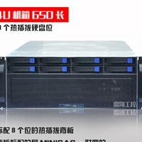 4U热插拔8盘位机箱支持GPU运算4个GPU双显卡位4U工控服务器机箱