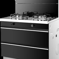 四重保护超二星标准低焰灶劲吸烟机消毒柜四象合一火王90D集成灶