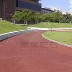 彩色透水地坪材料施工 兼营胶筑透水石地坪