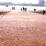 供应彩色混凝土压模地坪 膜具成型 施工快捷