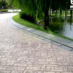 供应彩色压印地坪 压模地面 施工工艺步骤简单