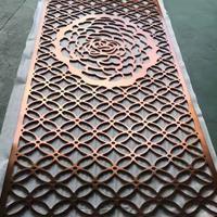 酒店装饰纯铜艺术雕刻屏风隔断