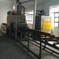 佛山五金铝材塑胶表皮处理设备 红海大型自动化喷砂机