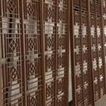 铝装饰材料臻品镂空铝窗花_木纹铝窗花_铝窗花工厂直销