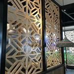 古典文化宮外墻仿木紋鋁窗格定制-木紋鋁窗花-仿古鋁窗花價格