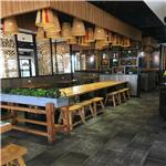 批发中式餐饮连锁店装饰仿古铝窗花/木纹铝窗花
