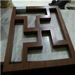 仿真木纹方管组合造型铝窗花、方管铝窗花