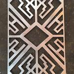 【中式仿木铝花格,复古铝花格】是新一代环保建筑材料