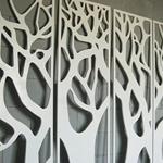 专注木纹色铝窗花 装饰铝花格 广州工厂直销