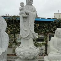 石雕观音 现货3米观音像 批发观音菩萨雕像