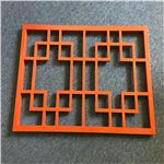 别墅雕花楼梯护手铝花格定制-中式扶手花格