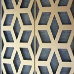 梧州锻炼会所仿木纹铝花格供应_建筑内外墙仿木纹铝窗花定制