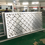 台北景区街道改造铝窗花 中式铝窗花格定制